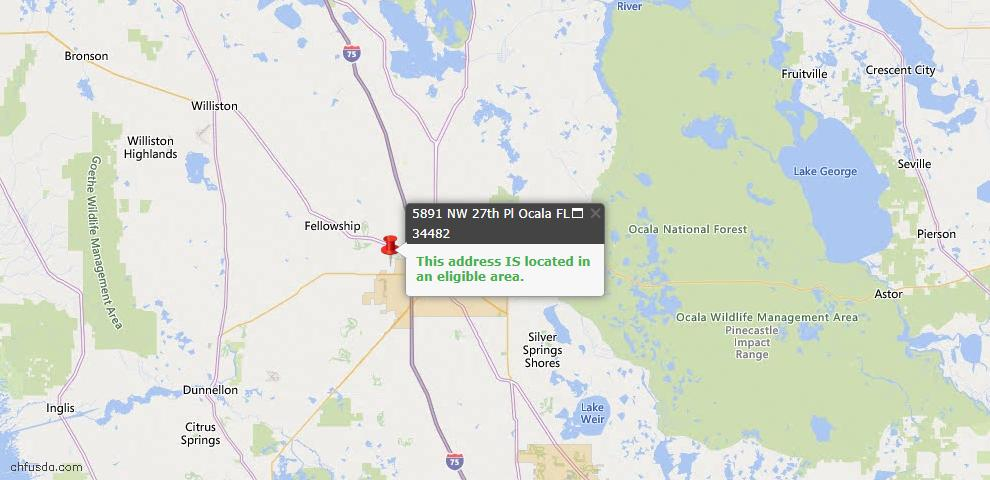 USDA Loan Eligiblity Map - 998 14th St NE, Winter Haven, FL 33881