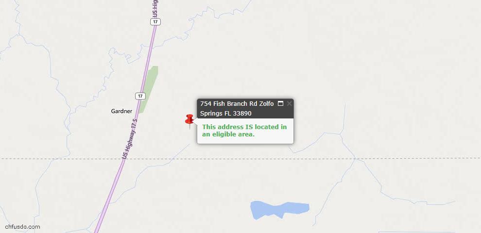 USDA Loan Eligiblity Maps From - Zolfo Springs, FL