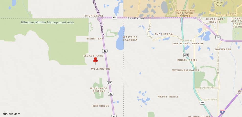 USDA Loan Eligiblity Map - 115 Somerset Dr, Davenport, FL 33897