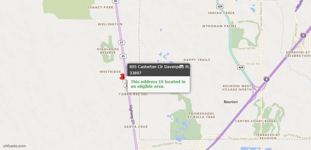 USDA Loan Eligiblity Maps From - 33897, FL