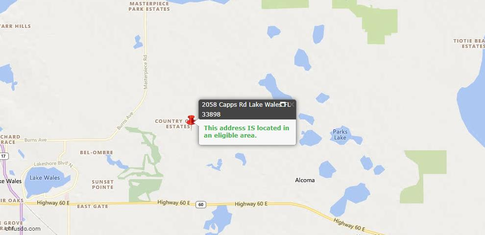 USDA Loan Eligiblity Maps From - Lake Wales, FL