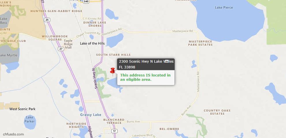 USDA Loan Eligiblity Maps From - 33898, FL