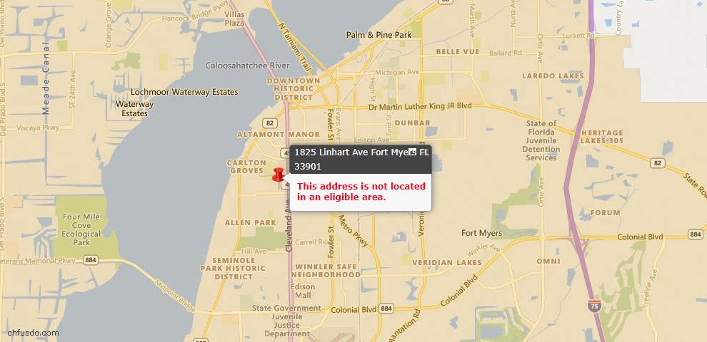 USDA Loan Eligiblity Maps From - Fort Myers, FL