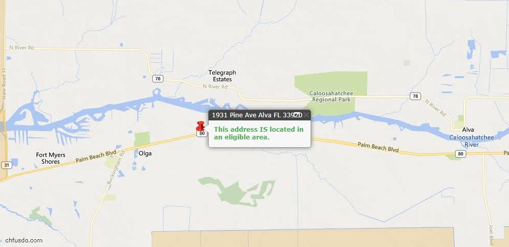 USDA Loan Eligiblity Maps From - Alva, FL