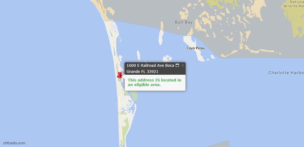 USDA Loan Eligiblity Maps From - Boca Grande, FL