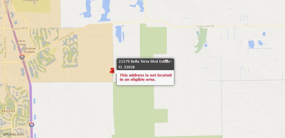 USDA Loan Eligiblity Maps From - Estero, FL