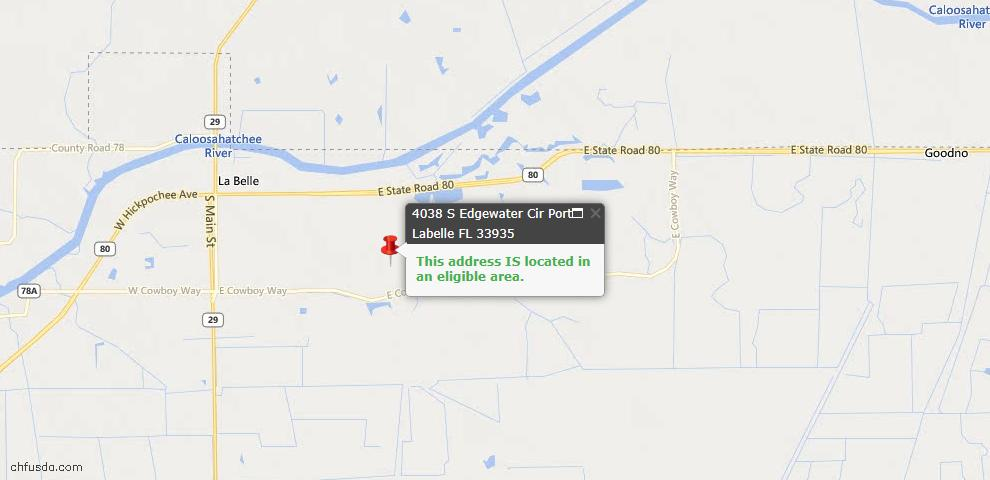 USDA Loan Eligiblity Maps From - Labelle, FL