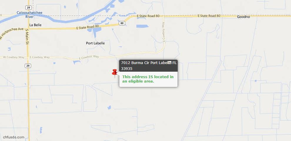 USDA Loan Eligiblity Maps From - La Belle, FL