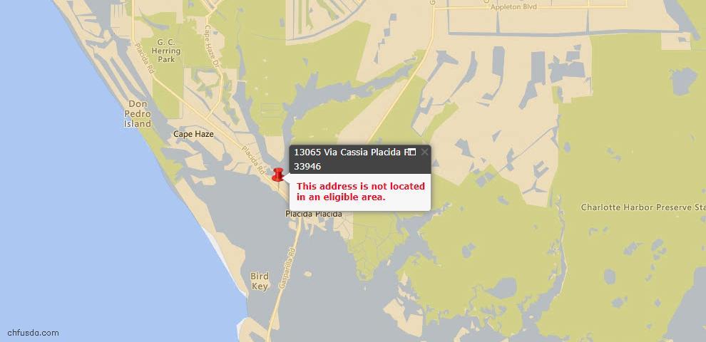 USDA Loan Eligiblity Maps From - Placida, FL