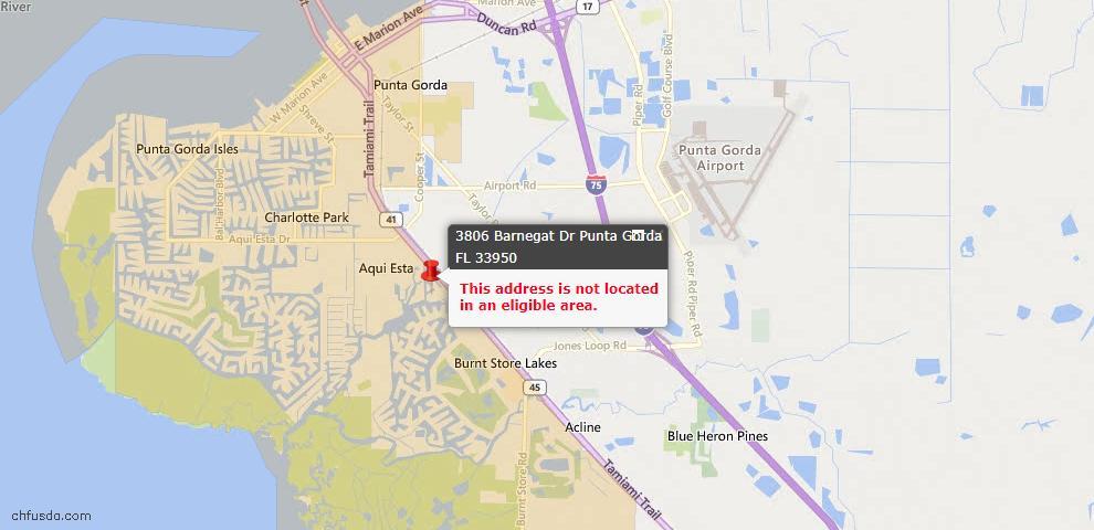 USDA Loan Eligiblity Maps From - Punta Gorda, FL