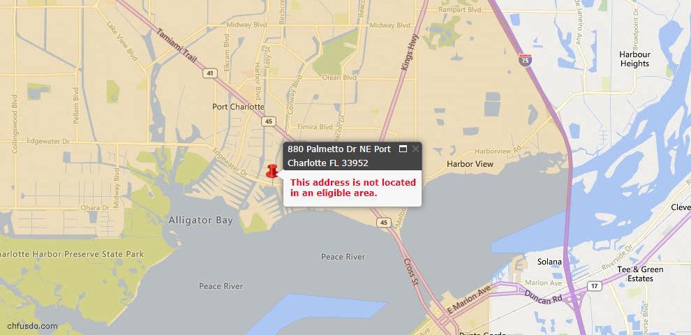USDA Loan Eligiblity Maps From - Port Charlotte, FL