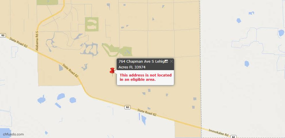 USDA Loan Eligiblity Maps From - Lehigh Acres, FL