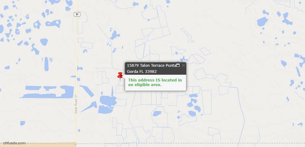USDA Loan Eligiblity Map - 15879 Talon Ter, Punta Gorda, FL 33982