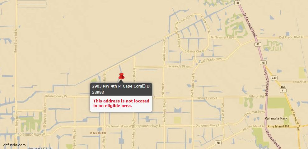 USDA Loan Eligiblity Maps From - Lee County, FL