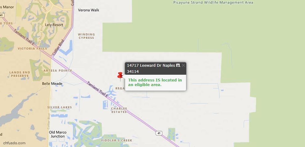 USDA Loan Eligiblity Maps From - 34114, FL