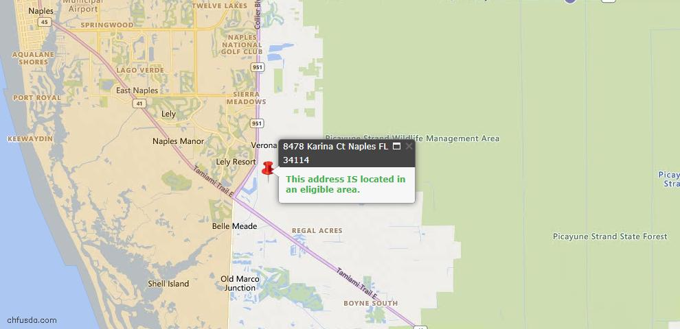 USDA Loan Eligiblity Map - 8478 Karina Ct, Naples, FL 34114