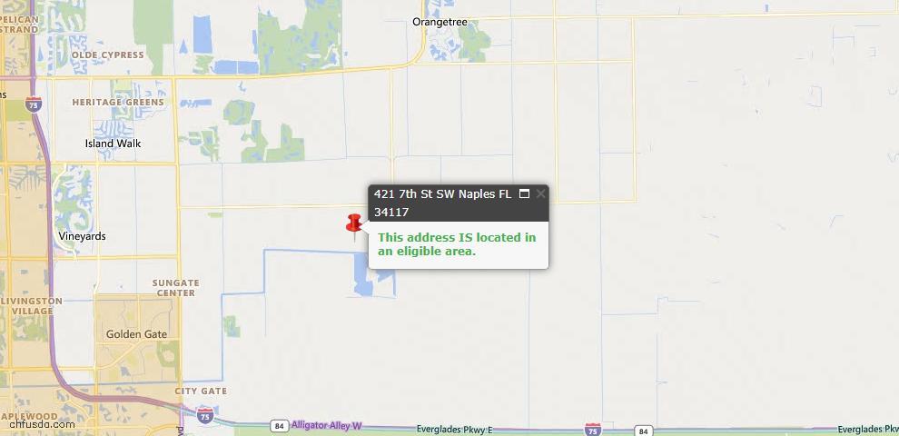 USDA Loan Eligiblity Map - 421 7th St SW, Naples, FL 34117