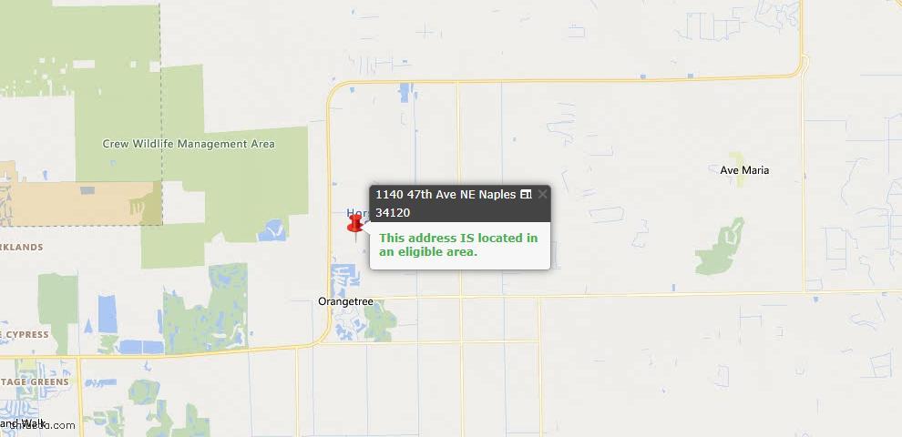 USDA Loan Eligiblity Map - 1140 47th Ave NE, Naples, FL 34120