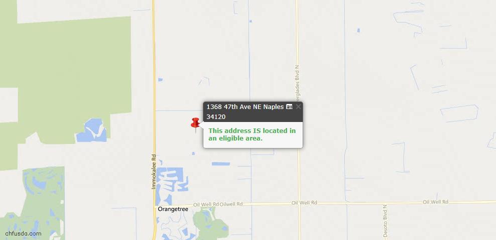 USDA Loan Eligiblity Maps From - 34120, FL