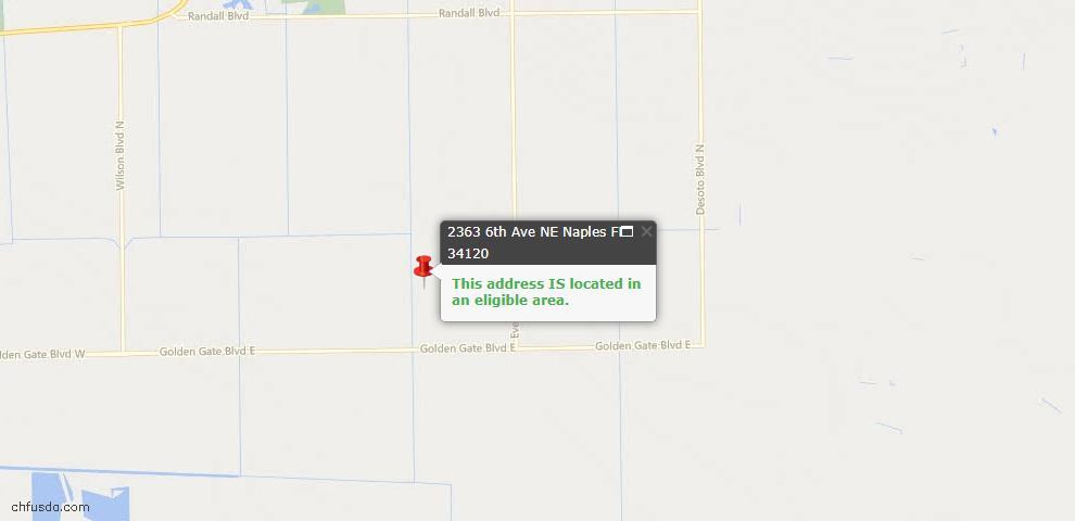 USDA Loan Eligiblity Maps From - Naples, FL