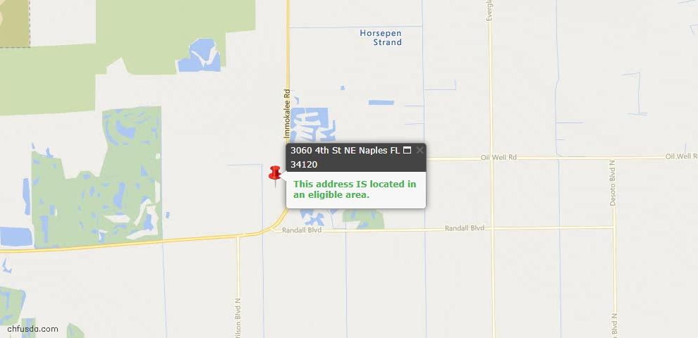 USDA Loan Eligiblity Map - 3060 4th St NE, Naples, FL 34120