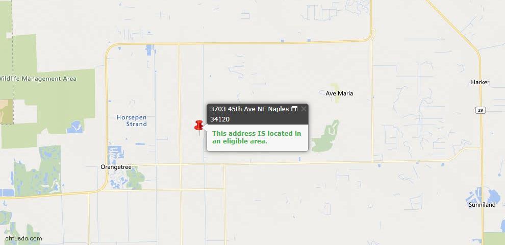 USDA Loan Eligiblity Map - 3703 45th Ave NE, Naples, FL 34120