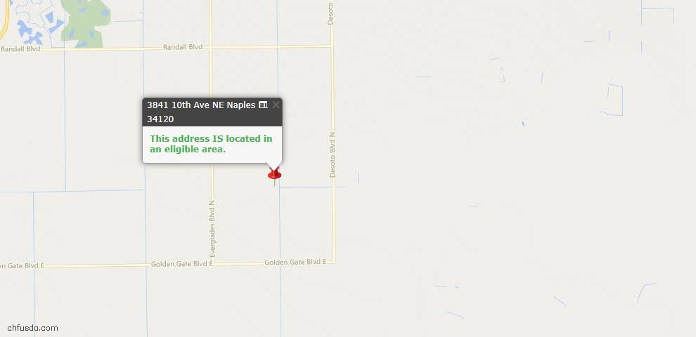 USDA Loan Eligiblity Map - 3841 10th Ave NE, Naples, FL 34120