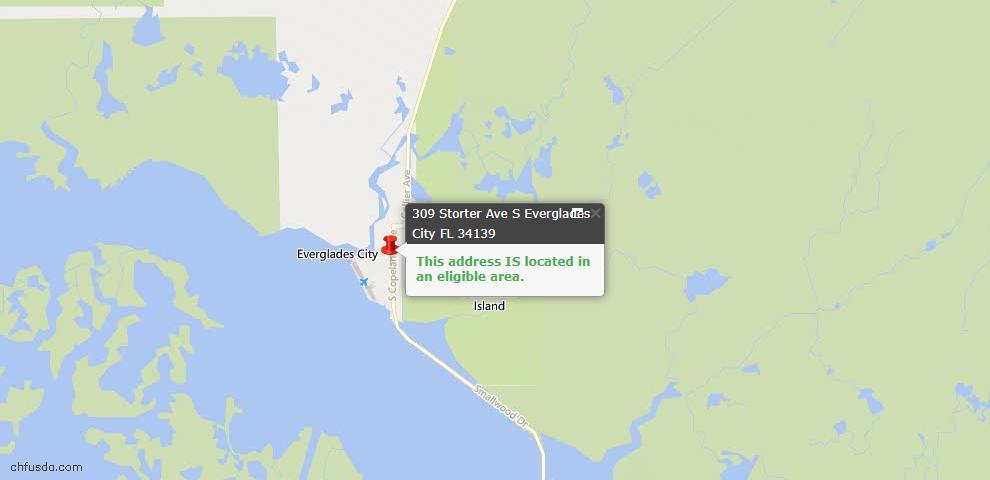 USDA Loan Eligiblity Maps From - Everglades City, FL