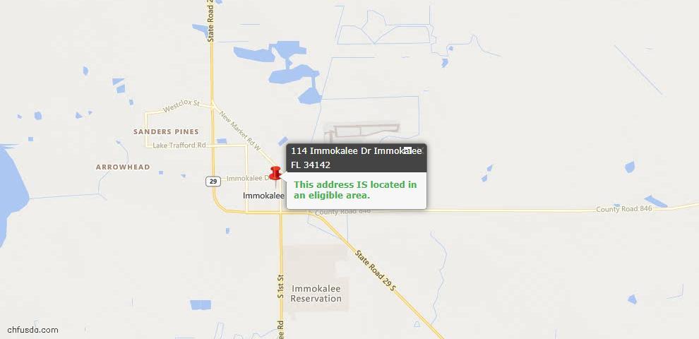 USDA Loan Eligiblity Maps From - Immokalee, FL