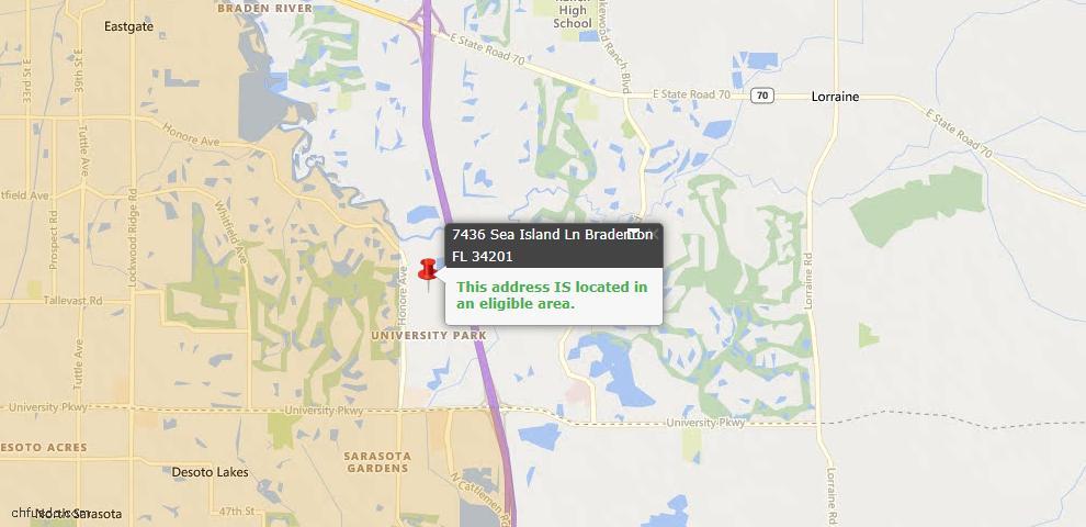 USDA Loan Eligiblity Maps From - University Park, FL