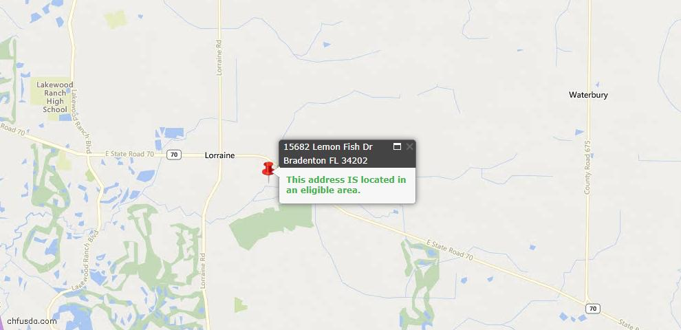 USDA Loan Eligiblity Maps From - Lakewood Ranch, FL