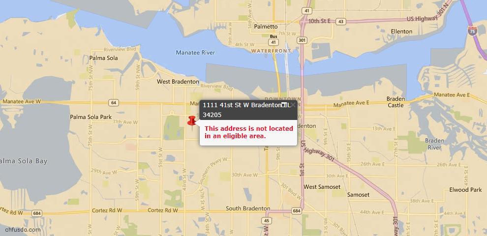 USDA Loan Eligiblity Maps From - Bradenton, FL