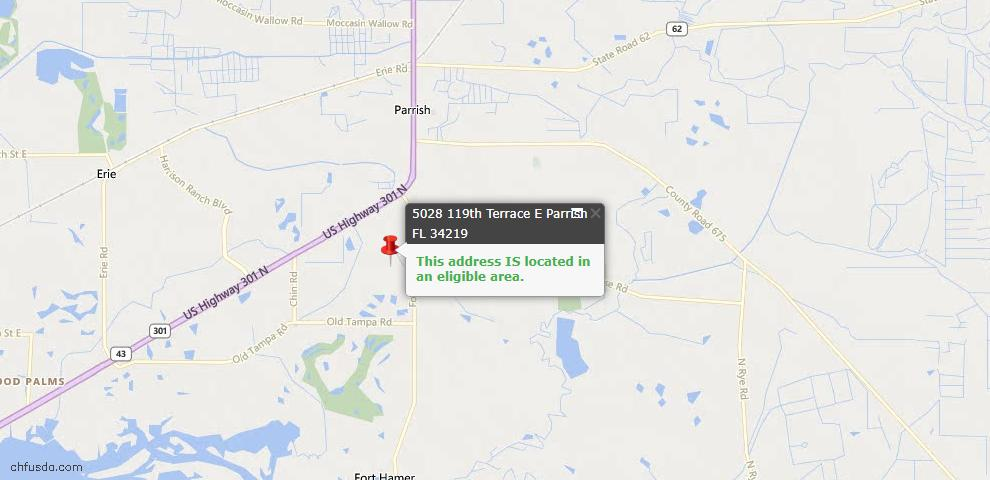 USDA Loan Eligiblity Maps From - Parrish, FL