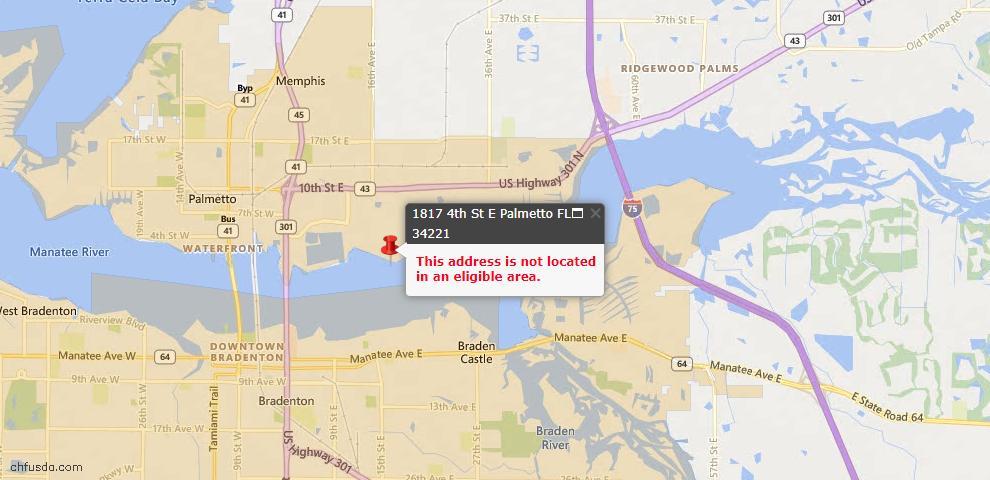 USDA Loan Eligiblity Maps From - Palmetto, FL