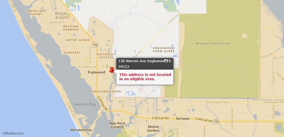 USDA Loan Eligiblity Maps From - Englewood, FL