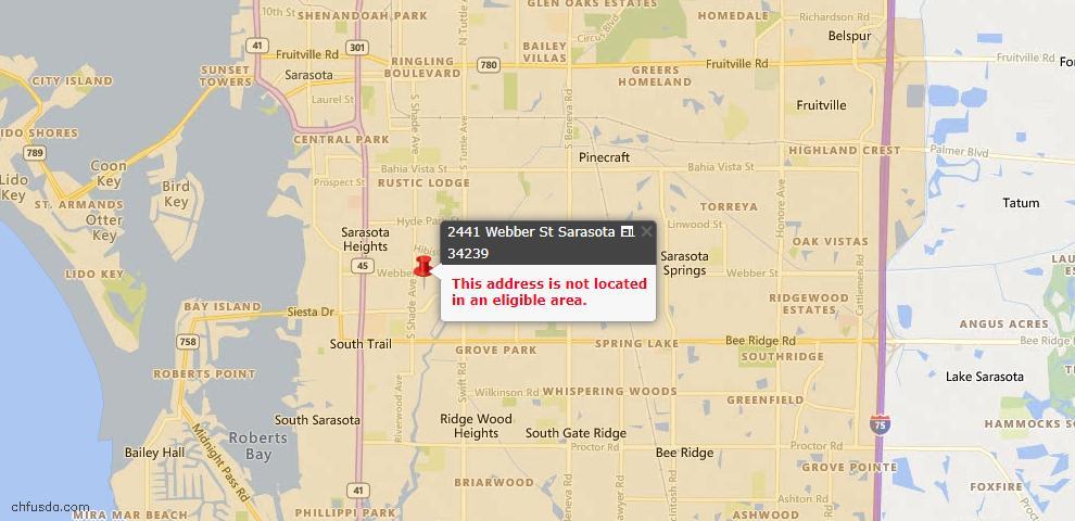 USDA Loan Eligiblity Maps From - Sarasota, FL