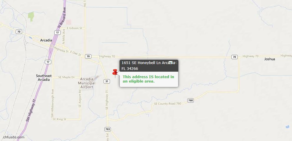 USDA Loan Eligiblity Maps From - Arcadia, FL