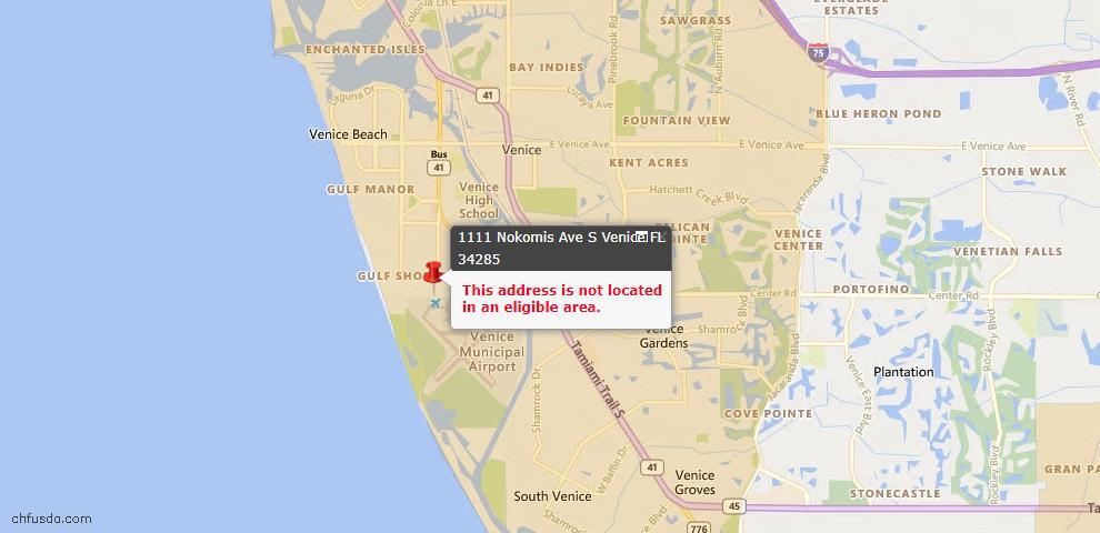 USDA Loan Eligiblity Maps From - Venice, FL