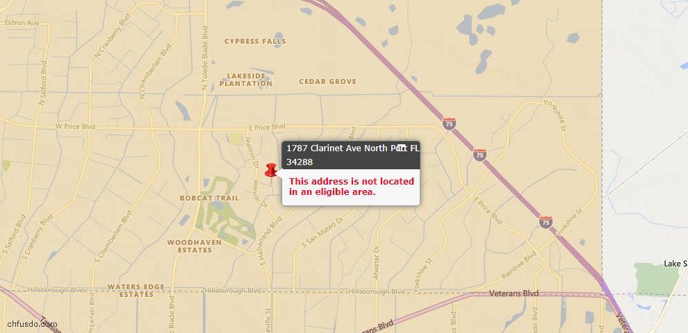 USDA Loan Eligiblity Maps From - North Port, FL