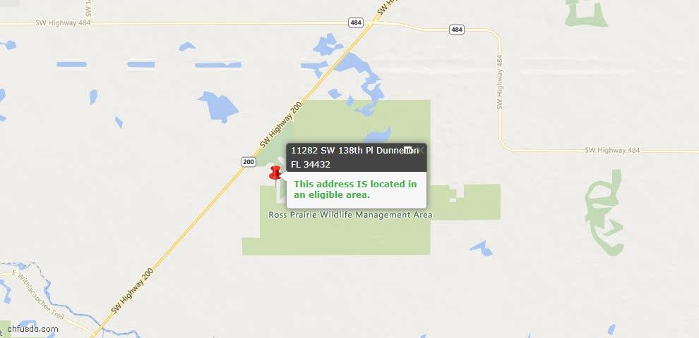 USDA Loan Eligiblity Maps From - Dunnellon, FL