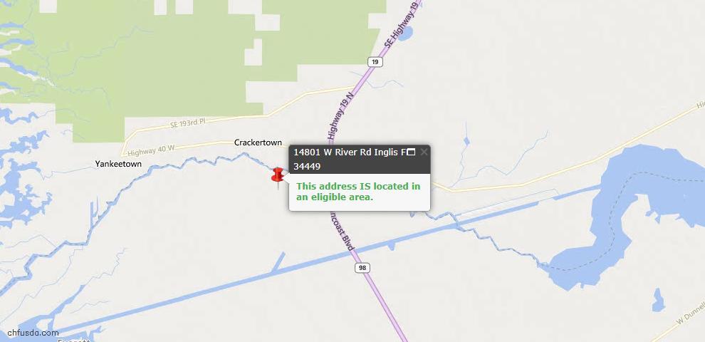 USDA Loan Eligiblity Maps From - Inglis, FL