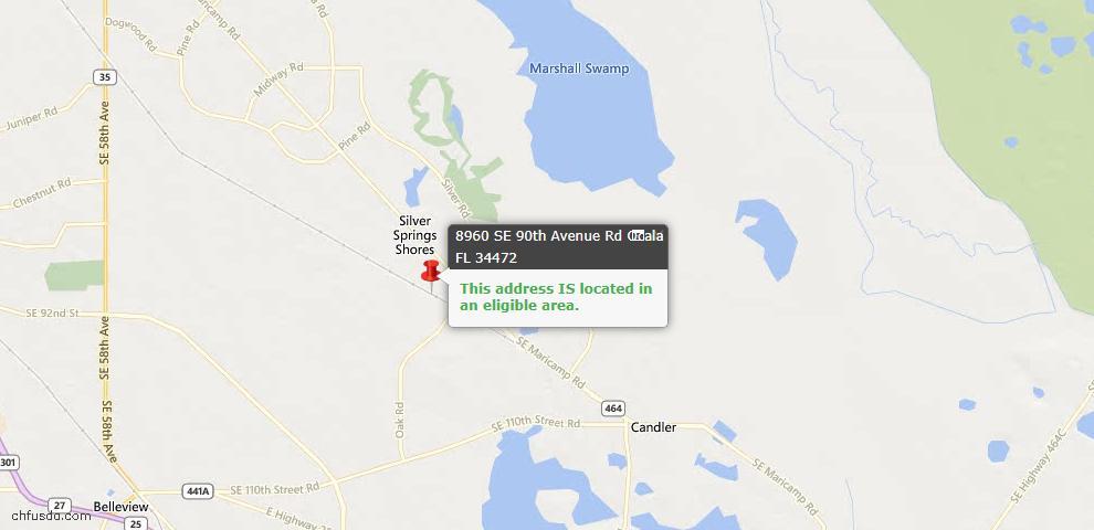 USDA Loan Eligiblity Maps From - Ocala, FL