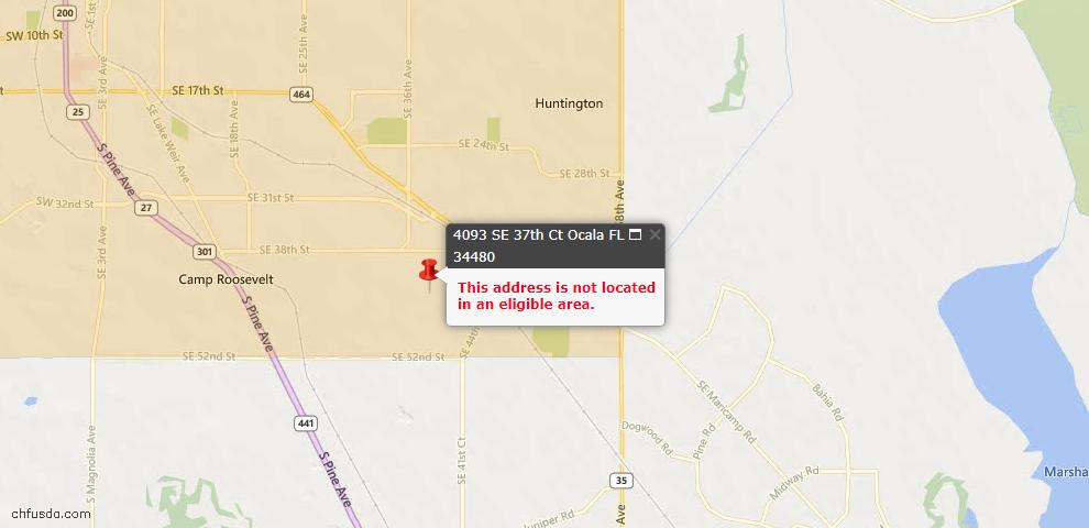 USDA Loan Eligiblity Maps From - Marion County, FL