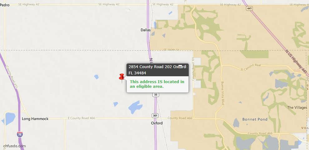 USDA Loan Eligiblity Maps From - Oxford, FL
