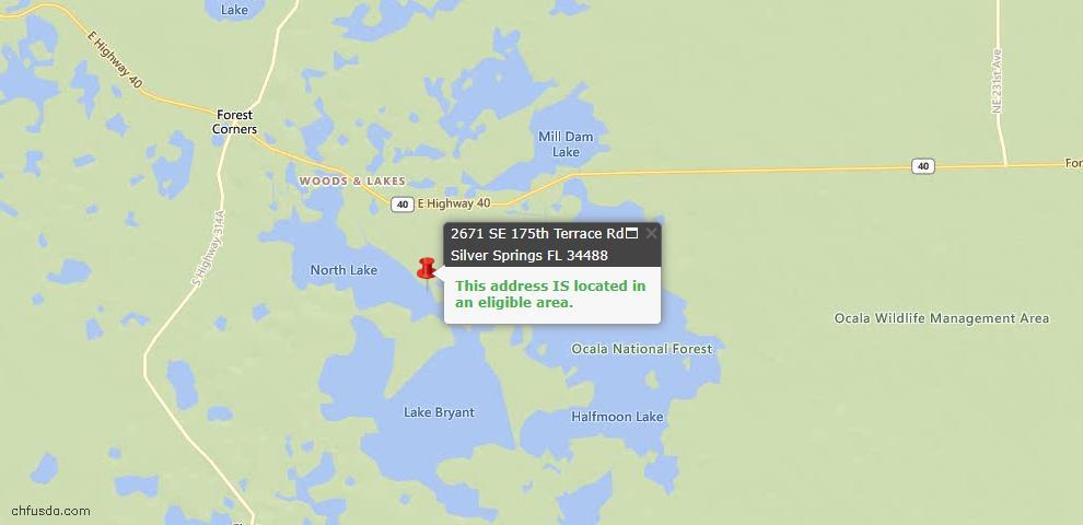 USDA Loan Eligiblity Maps From - Silver Springs, FL