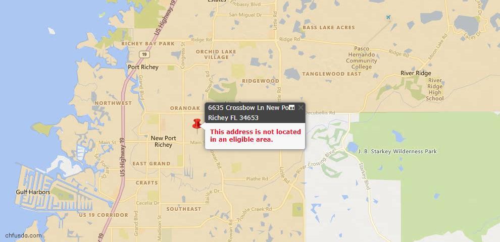 USDA Loan Eligiblity Maps From - New Port Richey, FL
