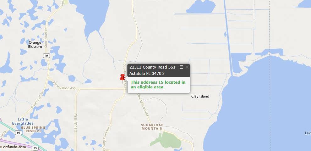 USDA Loan Eligiblity Maps From - Astatula, FL