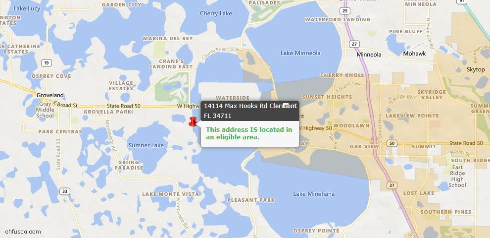 USDA Loan Eligiblity Maps From - Lake County, FL