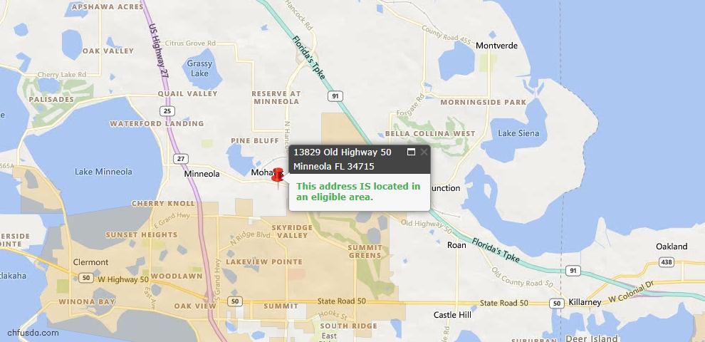 USDA Loan Eligiblity Maps From - Minneola, FL