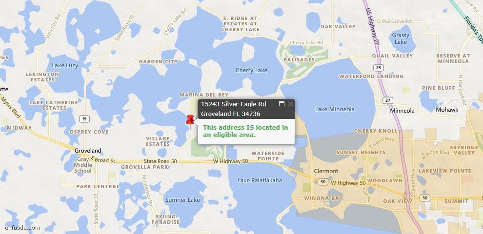 USDA Loan Eligiblity Maps From - Groveland, FL